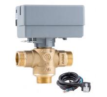 """3-Ходовой зональный клапан с сервоприводом 230V, соеди. 1"""" STOUT"""