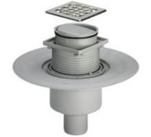 Душевой трап Viega 10х10 для душа вертикальный отвод сухой затвор