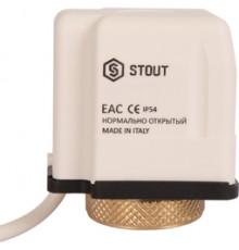 Компактный сервопривод электротермический нормально Открытый 24В,STOUT