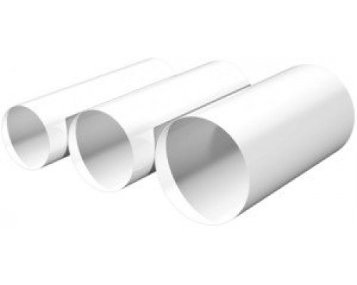 Круглый воздуховод ппластик, 10ВП1, ф 100, длина 1м, Эра