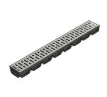 Лоток водоотводный ЛВ-10,14,07 пластиковый cо стальной решеткой,S'PARK