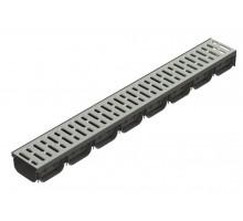 Лоток водоотводный ЛВ-10,14,07 пластиковый cо стальной решеткой