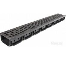Лоток водоотводный ЛВ-10,14,10 пластиковый c чугунной решеткой