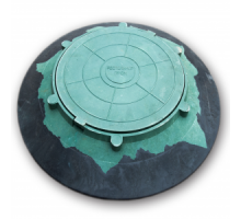 Люк конусный зеленый 1,5т  ф 1070мм. крышка ф 570