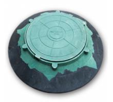 Люк конусный зеленый 5т  ф 1070мм. крышка ф 570