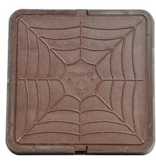 Люк легкий - коричневый квадрат    р 66х66 - 3т
