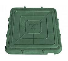 Люк легкий - зеленый квадрат    р 66х66 - 3т