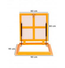 Люк напольный под плитку метал ЛН премиум Н, Р 120ш х 60в см, ВС-ГРУПП