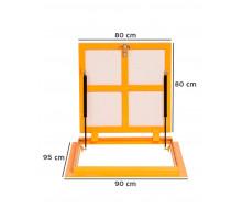 Люк напольный под плитку метал ЛН премиум Н, Р 60ш х 120в см, ВС-ГРУПП