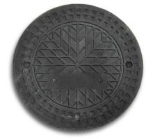 Люк полимерпесчанный для гофротрубы колодца 315 В (черный)