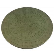 Люк полимерпесчанный для гофротрубы колодца 400 В (зеленый)