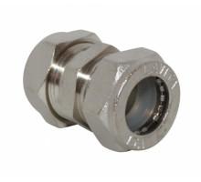Муфта соединительная (никелированная) ф 25х25  Tim
