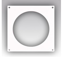 Накладка торцевая пластик 205х205, для воздуховода D160 Эра