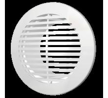 Решетка вентиляц.круглая с пластик.сеткой D130 вытяжная АБС с фланцем