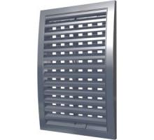 Решетка вентиляц. наружная, регулируемая, разъемная 180x250 сер.  Эра