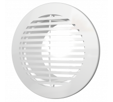 Решетка вентиляционная круглая D130 вытяжная АБС с фланцем ф100