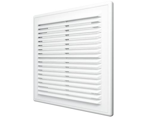 Решетка вентиляционная вытяжная АБС 208х208, бел