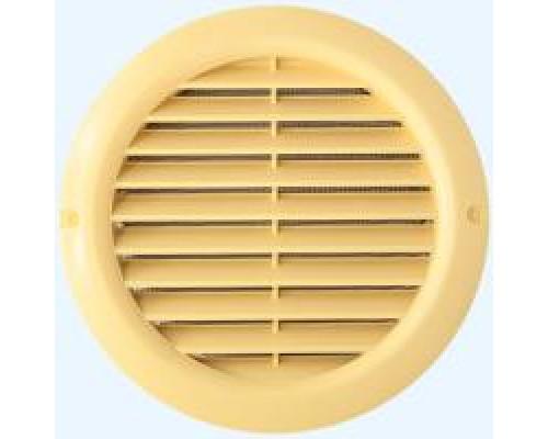 Решотка вентилиционная круглая с фланцом, 12РКН Ivory, ф 125, Эра