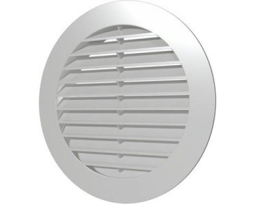 Решотка вентилиционная круглая с фланцом белая, 15РКН, ф 150, Эра