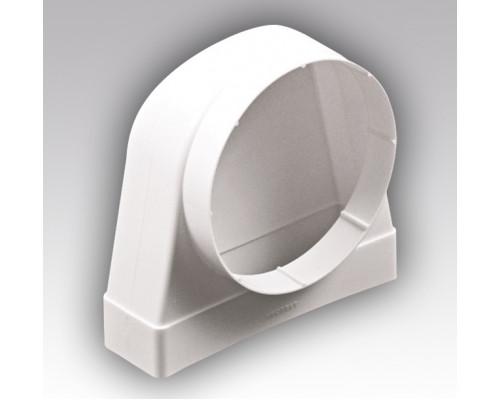 Соед.угловой 90° пластик, плоского воздухо. с фланц.воздухор60-204х125