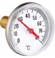 Термометр бимета. 40мм 80°C аксиальное присоединение