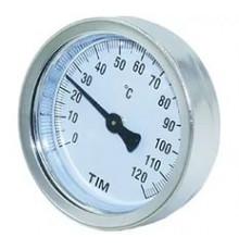 Термометр биметаллический накладной спружиной 80мм 120°С Tim