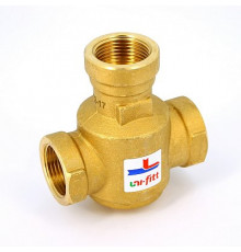 """Термостатический смесительный клапан G 1"""" НР 60.70°С Uni-fitt"""