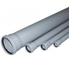 Труба канализационная с раструбом Ф110 Европласт 100см