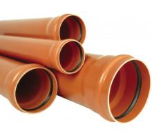 Труба канализационная с раструбом наружная Ф110х2,0мм 100см