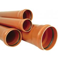 Труба канализационная с раструбом наружная Ф110х2,0мм 200см