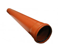 Труба канализационная с раструбом наружная Ф110х3,2мм 100см Европласт