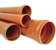 Труба канализационная с раструбом наружная Ф110х3,2мм 200см