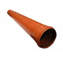 Труба канализационная с раструбом наружная Ф160х4,9мм 100см