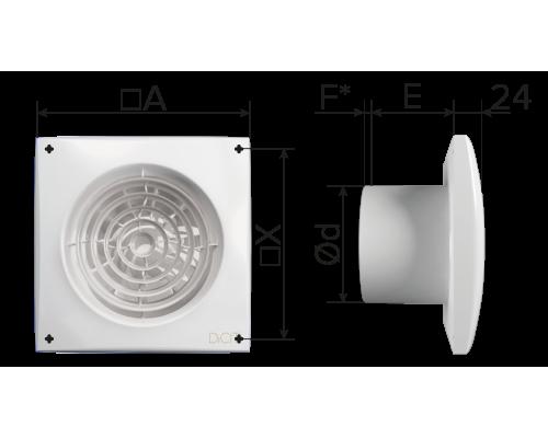 Вент - Вентилятор накладной AURA 4C MRH ф 100 Эра купить с доставкой