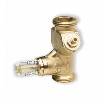 Вентиль ручной балансировочный с расходомером Watts, угловой  ф 1 НР
