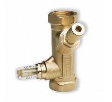 Вентиль ручной балансировочный с расходомером Watts, угловой  ф 1 ВР