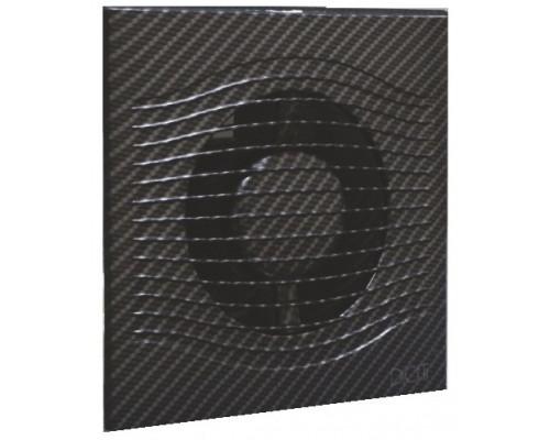 Вентилятор с О. клапаном SLIM 4C Black carbon ф 100 Эра