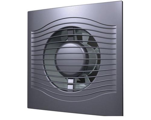 Вентилятор с обратным клапаном SLIM 4C Dark gray metal ф 100 Эра