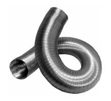 Воздуховод гибкий алюминиевый гофрированный, 50мкм, L до 3м ф 130 Эра